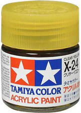TAMIYA COLOR ACRYLIC X-24 Clear Yellow MODEL KIT PAINT 10ml NEW