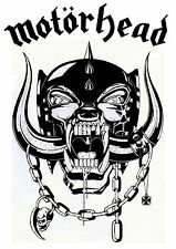 Motorhead War Pig white on clear vinyl sticker car decal 150mmx75mm Lemmy