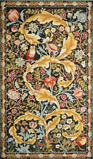 """Eagle Owl Medieval Tree Bird Morris Style Ornament Wall Tapestry 28"""" x 53"""""""