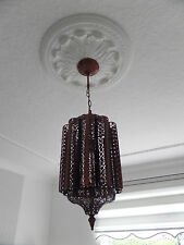 Stunning Moroccan Bronze Metal Cut Work Unique Design Ceiling Light  Brand New