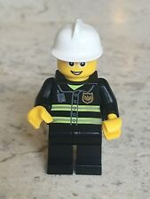 LEGO Minifigure:  Fire - Reflective Stripes, Black Legs (cty056), 2010