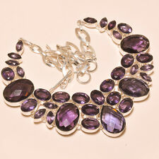 MARVELOUS DESIGN FACETED AFRICAN AMETHYST 925 EBAY STORE SILVER JEWELRY NECKLACE