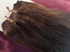 "20""HUMAN WEAVE 150G #8 DELUX light Ash Brown BEAUTIFUL INDIAN REMY HAIR"