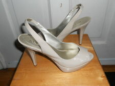 Guess Nude Peep Toe Sling Back Pump Heels