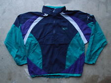 Vintage Reebok Athletic Windbreaker Pullover Jacket Size M Navy Running Nylon