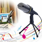 Professional 3.5mm Studio Microphone Mic Podcast For Skype PC Desktop Notebook