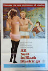 ALL NEAT IN BLACK STOCKINGS - Rare Movie Poster w/ Ron Jeremy Autograph Card