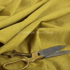 Quality Highland Soft Wool Effect New Chenille Curtain Upholstery Yellow Fabric