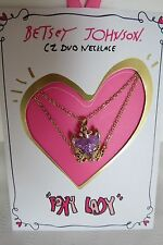 Genuine Betsey Johnson Gifting Fierce Foxy Lady Two Row Necklace New On Card
