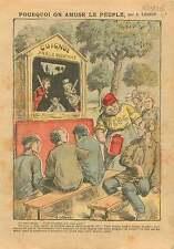 Caricature Politique Guignol Parlementaire Bloc des gauches FM 1906 ILLUSTRATION