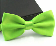 Weddings - Mens Bright Green Satin Bow Tie *BN*