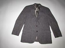 Harris Tweed by Nino Cerruti Men's Blazer Jacket 38 Short Brown Gray Blue Coat S