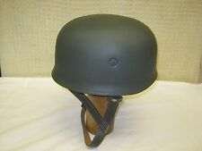 WWII German Fallschirmjager Paratrooper M38 Steel Helmet Leather Liner