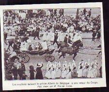 1909  --  ALBERT DE BELGIQUE  RETOUR DU CONGO  G032