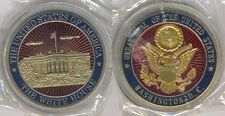 White House Challenge Coin Great Seal of the United States US Gold Red Blue whg