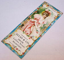ANTIQUE ALLAN & CO PAPER ADVERTISING BOOKMARK