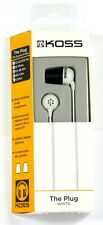 185331  KOSS The Plug In-Ear Headphones (White), Comfort Memory foam Ear cushion