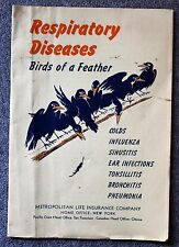 1940s RESPIRATORY DISEASES Birds of Feather COLDS Influenza PNEUMONIA Bronchitis