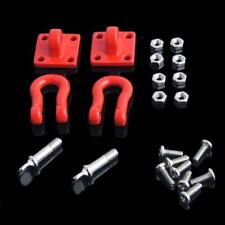 Red Metal Trailer Hook & Buckle RC AXIAL For 1/10 SCX10 CC01 D90 Rock Crawler