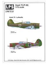 LPS Decals 1/72 CURTISS HAWK 75 Captured Luftwaffe Versions