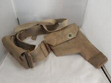 WW2 37 Pattern Raf Air Ministry Webbing Pistol Holster + Belt + Ammo Pouch 1940