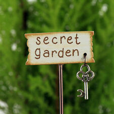 Secret Garden Miniature Sign with key ~ Fairy Garden ~ Handmade~ Dolls House