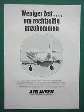 5/73 PUB COMPAGNIE AERIENNE AIR INTER AIRLINE CARAVELLE ORIGINAL GERMAN ADVERT