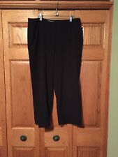 Chicos Crop Ankle Pants Black Zip Fly Cuffed Legs Womans Size 2