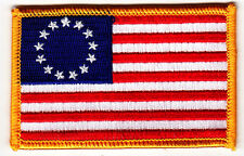 BETSY ROSS AMERICAN FLAG - IRON ON EMBROIDERED PATCH - PATRIOTIC - HISTORY