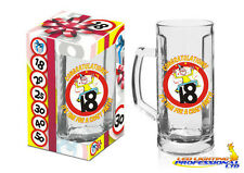 BIRTHDAY BEER MUG 18th TANKARD WITH HANDLE PINT PARTY GIFT PRESENT PARTY GLASS