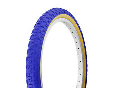 "FREE BIKE TUBES + 2- 20"" x 2.125""  Blue Gum Wall Bicycle Tires BMX MTB Cruiser"