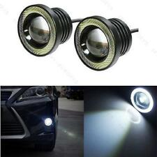 "2x 3.5"" Projector Car 15W High Power LED Fog Light #S COB Halo Angel Eyes Rings"