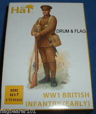 HAT 8292 - WW1 BRITISH INFANTRY (EARLY WAR) - 1/72 SCALE PLASTIC