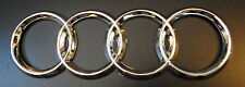 AUDI CHROME REAR BOOT BADGE EMBLEM LOGO 80 90 100 B3 B4 135mm