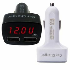 4IN1 USB Car Charger Voltmeter Ammeter Monitor Thermometer Digit Display ST-006