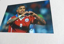 Arturo Vidal (Cile) signed in-persona Photo 10x15