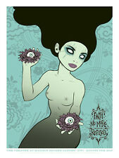 FAITH NO MORE / REFUSED poster New York 2015 (black hair) by Tara McPherson