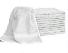 1 DOZEN WHITE  HAIR/BATH TOWELS 20x40 100% COTTON WHOLESALE LOT UTILITY TOWELS