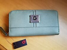 G By Guess Women's Around Town Zip-Around Wallet, Olive Green, New