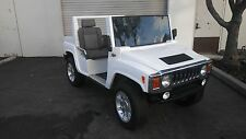 white 2015 acg hummer Golf Cart 4 passenger seat custom only 185 miles from new