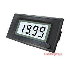 ON/OFF 12V DC White LCD Digital Auto Battery Solar Panel Voltmeter Power 6-24V