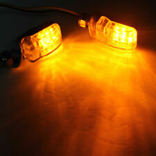 2X 6LED Motorcycle Mini Amber Turn Signal Lights Blinker Sports Car Black 12V