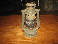 VINTAGE FEUERHAND MADE IN GERMANY LANTERN NR.  BABY 275 , ETCHED GLASS SHADE