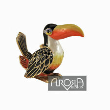 HIDDEN TREASURES - TOUCAN TRINKET WITH NECKLACE - NEW IN BOX
