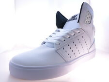Supra Atom Mens High Top Skateboarding Sneakers White/White Size 9.5