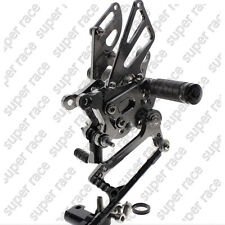 Adjustable CNC Rearsets Rear Sets Foot Pegs For Aprilia RSV4 2009-2012 2011 Gray