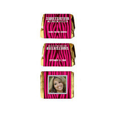 30 Sweet Sixteen 16 Zebra Party Favor Personalized NUGGET LABELS