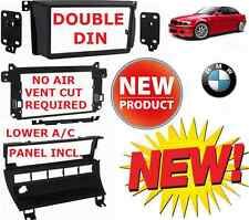 BMW E46 Double Din Car Stereo Radio Installation Dash Kit Bezel + A/C RELOCATION