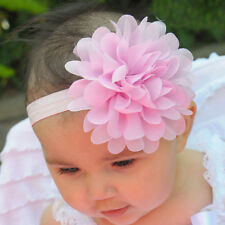 Dark Pink Color Lace Flower Kids Girl Baby Headband Hair Band Headwear