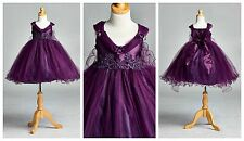 Flower Girl Bridesmaids Elegant Vintage Pageant Recital Girl Dress #33